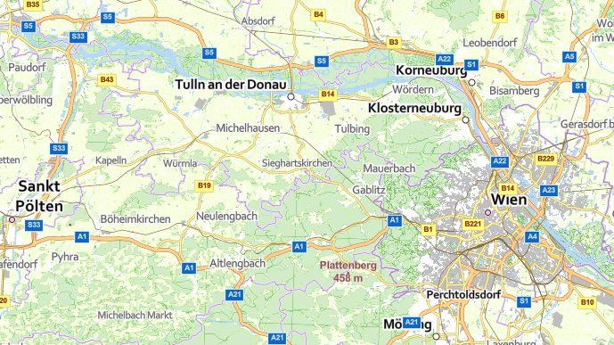 Vorschau basemap.at Vektor mit Mapbox GL JS